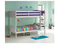 detacheble bunk bed single - White
