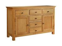 Kingsbury Large Oak & Oak Veneer Sideboard