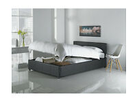 Hygena Lavendon Kingsize Ottoman Bed Frame - Black