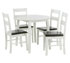 HOME Wyton Round Drop Leaf Table & 4 Chairs