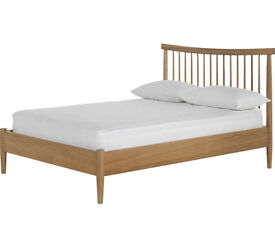 Heart of House Dorset Spindle Double Bed Frame - Oak