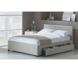 Hygena Keating 1 Drawer Latte Bed Frame - Double