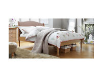 Heart of House Ketton Upholstered Double Bed Frame - Oak