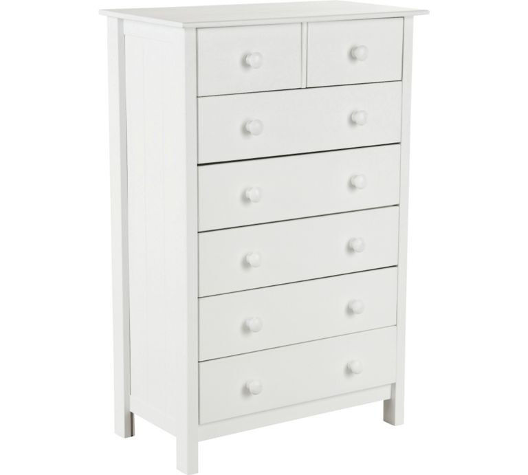 New Scandinavia 5+2 Drawer Chest - White