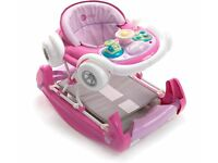 bright pink coupe baby walker