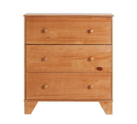 BabyStart Oxford Chest of Drawers - Pine with Oak finish