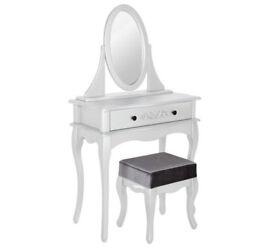 Sophia Dressing Table, Stool & Mirror - Ivory