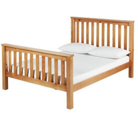 Maximus Small Double Bed Frame - Oak Stained