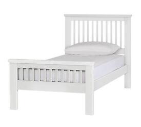 Aubrey Single Bed Frame - White