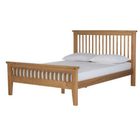 Aubrey Double Bed Frame - Oakstain