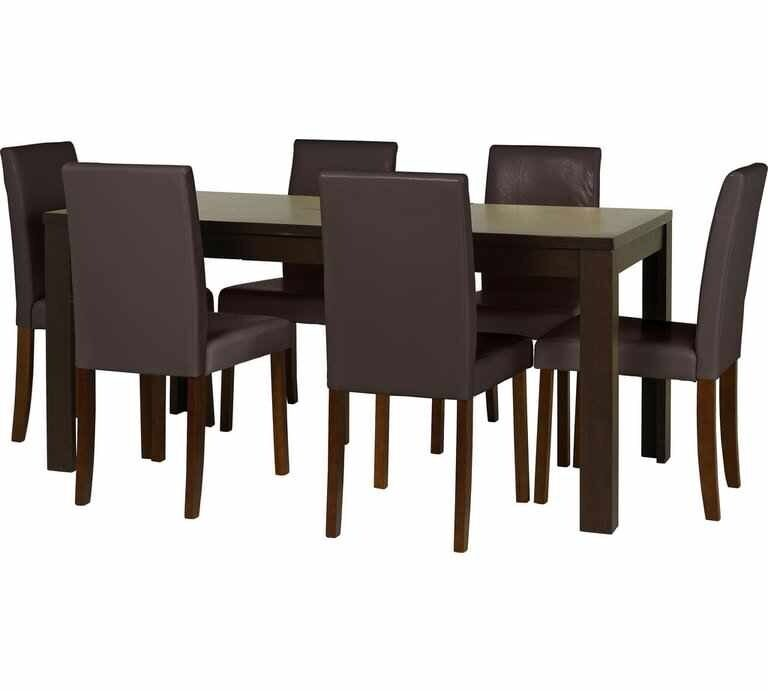 Penley Extending Dining Table With 6 Chairs - Walnut | in ...