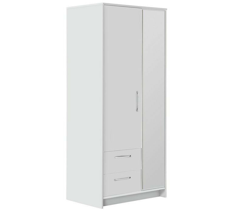 Tilbury 2 Door 2 Drawer Wardrobe - White