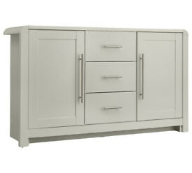 Fully assembled Heart of House Elford 2 Door 3 Drawer Sideboard - Grey