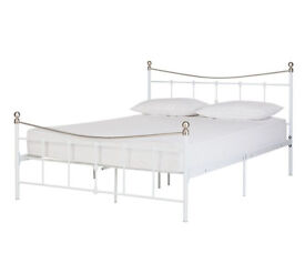 HOME Aeriel Double Bed Frame - White