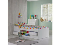 Malibu Cabin Bed Frame - White