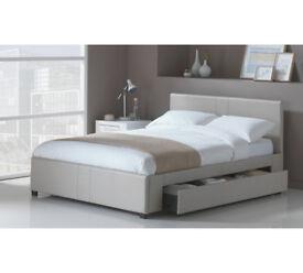 Hygena Keating 1 Drawer Latte Bed Frame - Double