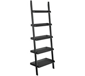 Habitat Jessie Black Wide Leaning Bookcase