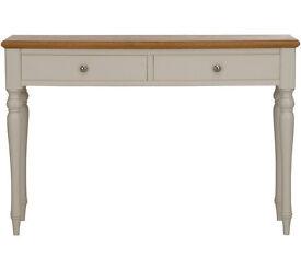 Schreiber Chalbury 2 Drawer Console Table - White Oak