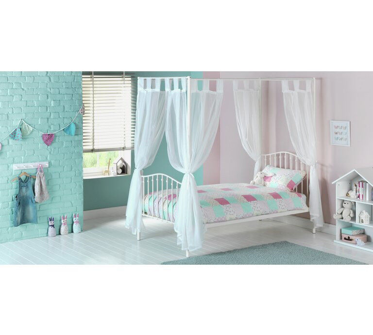 HOME Romantic 4 Poster Metal Bed Frame