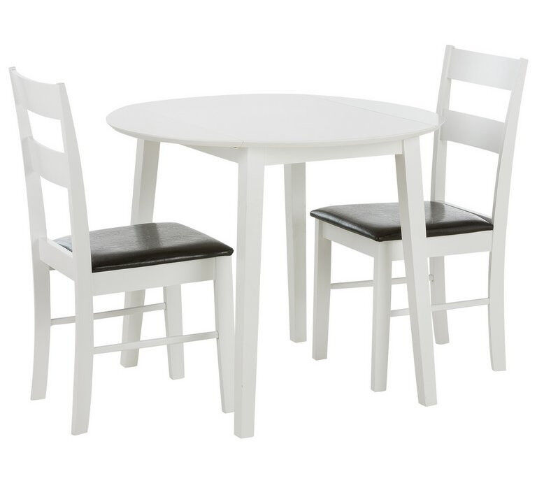 Miraculous Home Wyton Round Drop Leaf Table 2 Chairs White In Leicester Leicestershire Gumtree Cjindustries Chair Design For Home Cjindustriesco