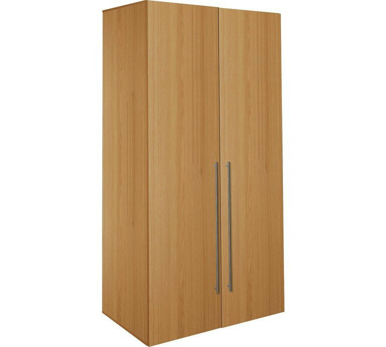 Hygena Atlas 2 Door Tall Wardrobe - Oak Effect