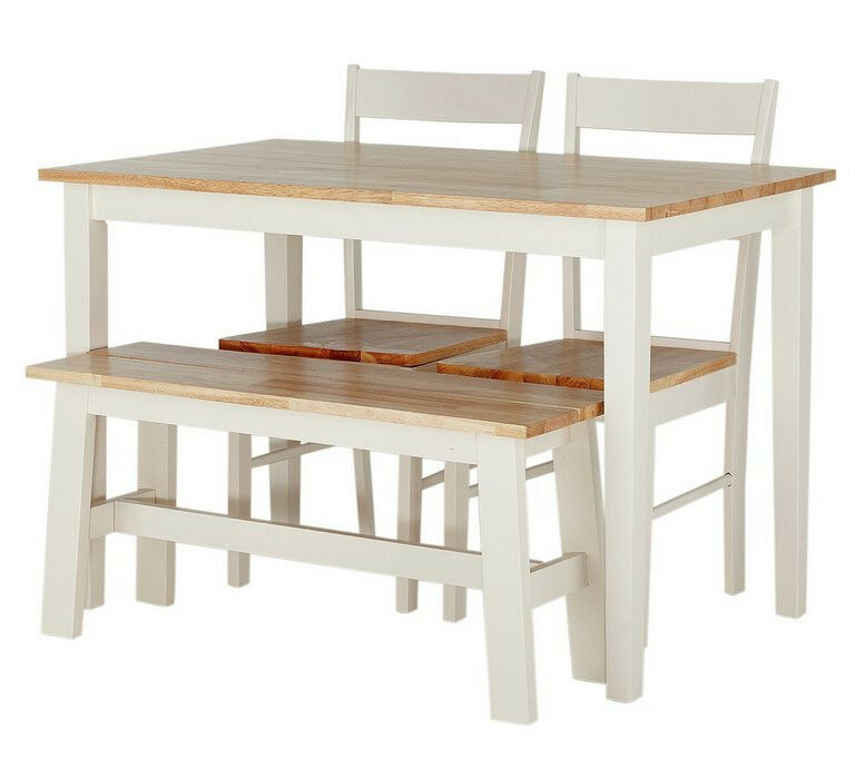 Chicago Dining Table Bench 2 Chairs