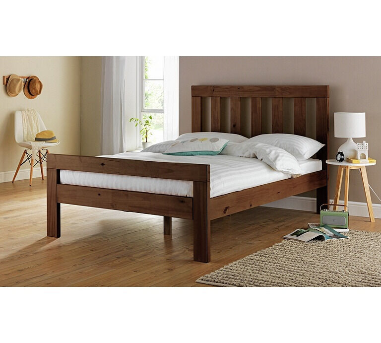 Chile Kingsize Bed Frame - Dark Stain