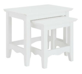 Collection Romantic Nest of 2 Tables - White