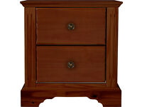 Heart of House Warwick 2 Drawer Bedside Chest - Mahogony