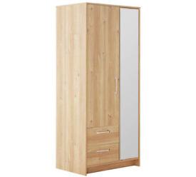 Tilbury 2 Door 2 Drawer Wardrobe - Oak Effect