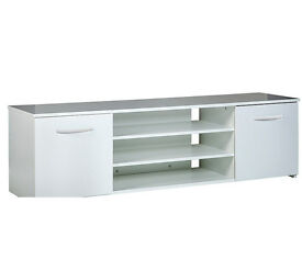 Hayward Wide 2 Door TV Unit - White