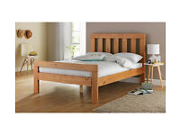 Chile Double Bed Frame - Oak Stain