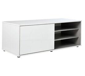 Hygena Sliding Door TV Unit - White