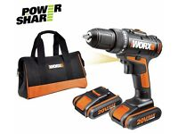 Worx 1.5AH Drill Driver with 2 Batteries - 20V