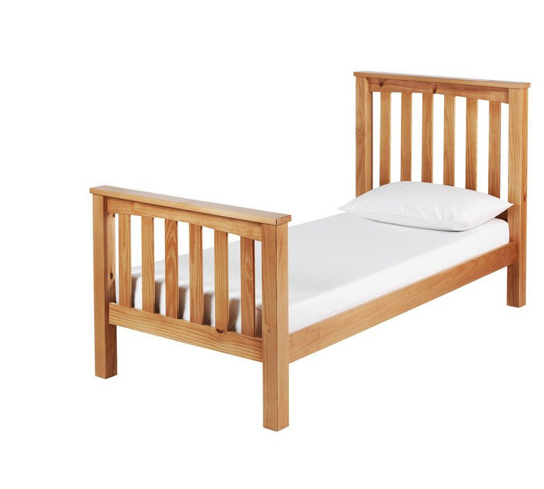 Collection Maximus Oak Stained Bed Frame - Single