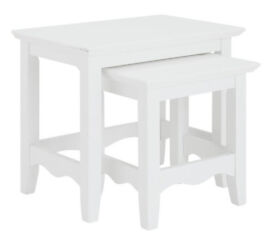 Romantic Nest of 2 Tables - White