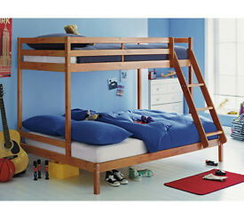 Single and Double Bunk Bed Frame - Pine