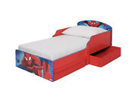 Spider-Man Toddler Bed with Drawers - Multicoloured