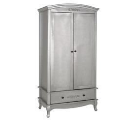 Sophia 2 Door 1 Drawer Wardrobe - Silver