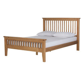 Aubrey Double Bed Frame - Oakstain