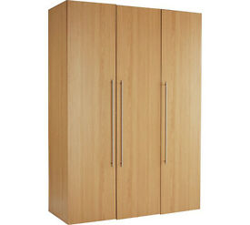 Hygena Atlas 3 Door Tall Wardrobe - Oak Effect