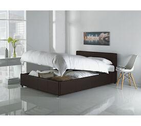 Hygena Lavendon Double Ottoman Bed Frame - Chocolate