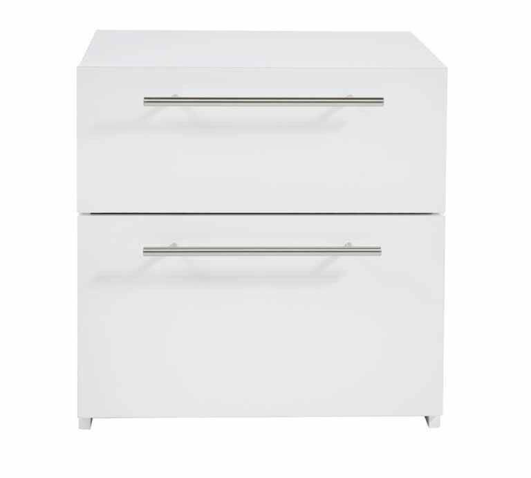 Hygena Atlas 2 Drawer Bedside ChestWhitein Erdington, West MidlandsGumtree - The Atlas 2 Drawer Bedside Chest has a cool, contemporary design. Featuring a sleek gloss front, its high shine finish stands out against a contrasting matte frame. Made in the UK, it has 2 different sized drawers so you can store items – big and...