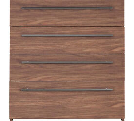 Hygena Atlas 4 Drawer Chest - Walnut Effect.