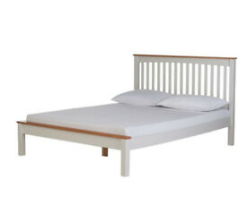 Aspley Double Bed Frame - Two Tone