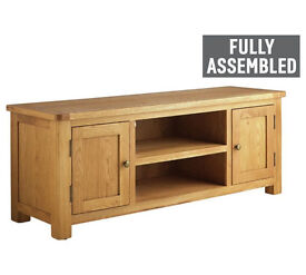 Heart of House Kent 2 Dr Low Sideboard Solid Oak Oak Veneer