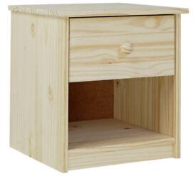 Jakob 1 Drawer Bedside Chest - Pine