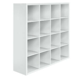 Hygena Squares Plus 16 Cube Storage Unit - White