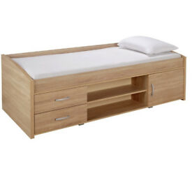 HOME Yanniek Cabin Bed Frame - Oak