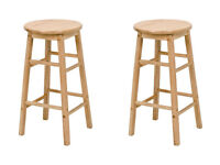 Two solid pine breakfast bar stools